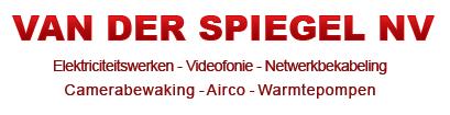 Elektriciteitswerken, Videofonie, Netwerkbekabeling, Camerabewaking, Airco, warmtepompen - VAN DER SPIEGEL NV